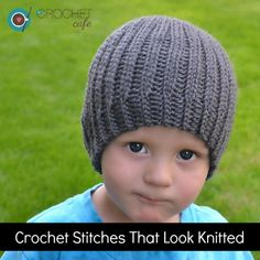 Crochet Stitches Getting Started : crochet stitches that look knitted more crochet hat patterns poke ...
