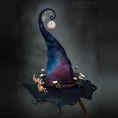 Created by Lalabug Designs (never anywhere else. watch out for scam websites) Halloween Kostüm, Halloween Costumes, Halloween Painting, Felt Witch Hat, Photo D Art, Witch Art, Witch Aesthetic, Fantasy Costumes, Wet Felting