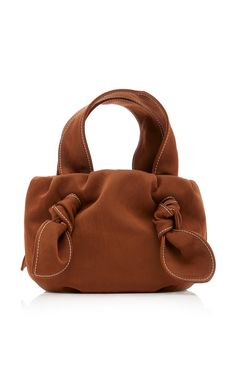 Ronnie Knotted Satin Tote by STAUD Now Available on Moda Operandi