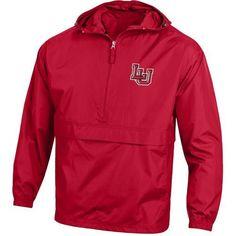 Champion Men's Lamar University Packable Jacket (Red, Size Medium) - NCAA Licensed Product, NCAA Men's Fleece/Jackets at Academy Sports