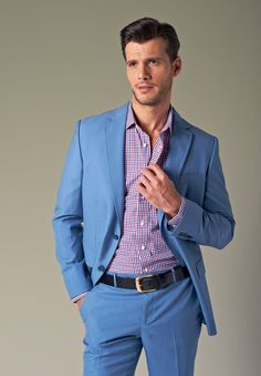 Pale Blue Suit Mens Dress Yy
