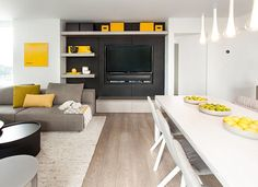 Residence with yellow accents by Gaile Guevara – TimeForDeco.com
