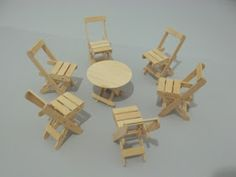artesanato com palitos: Novidade: Artesanato com Palitos de Picolé: Bancos, Cadeiras e Mesas: Tudo Articulado.