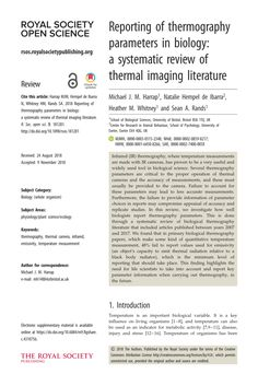 Pdf) Reporting Of Thermography Parameters In Biology: A with Thermal Imaging Report Template Lab Report Template, Book Report Templates, Chemistry Labs, Thermal Imaging, Business Professional, Understanding Yourself, Biology, Something To Do, How To Apply