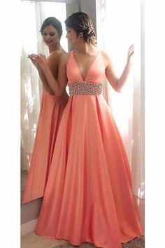 Charming Prom Dress,Sexy Prom Dress,Long Prom Dresses,Evening Party Dress,V Neck Prom Dresses 416 · Fashiondressess · Online Store Powered by Storenvy Prom Dresses Long Pink, V Neck Prom Dresses, Dresses For Teens, Pretty Dresses, Sexy Dresses, Dress Prom, Different Prom Dresses, Dresses Uk, Formal Gowns