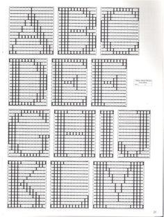 Crochet Alphabet, Crochet Letters, Embroidery Alphabet, Cute Embroidery, Embroidery Patterns Free, Cross Stitch Embroidery, Stitch Patterns, Monogram Cross Stitch, Cross Stitch Borders