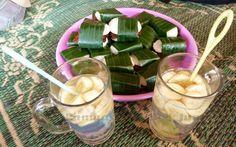 Wedang Gedang in Kinah Rejo, Merapi, served by mBak Asih. mBak Asih is one of mbah Maridjan's daughters