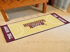 Mississippi State Basketball Court Runner 30x72