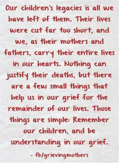 This says it so well, PLEASE don't forget my son!
