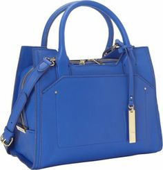 Vince Camuto Kylie Satchel Dazzling Blue #bags #accessories #style #streetstyle #fashion #trends #outfitideas #summertrends #styletrends