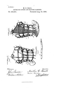 1890 Patent US435301 - DEVICE FOR FITTING AND DRAFTING GARMENTS- Google Patents