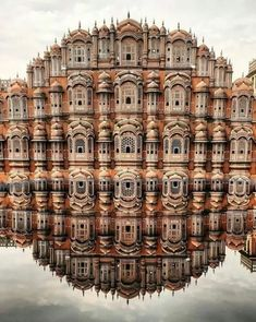 Hawa Mahal (Palace of the Winds), facade of the palace with so-called & . - Hawa Mahal (Palace of the Winds), facade of the palace with so-called & roofs& and - India Architecture, Ancient Architecture, Beautiful Architecture, Architecture Design, Gothic Architecture, Building Architecture, Places To Travel, Places To Visit, Travel Destinations