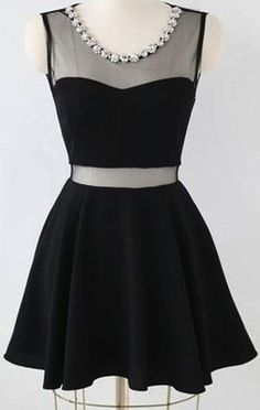 Little black dress (I'd love it if there weren't any little flowers on the neck line)