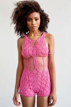 knitted body suit bu Helen Rodel
