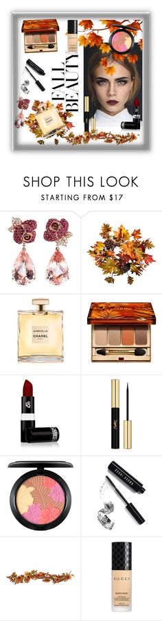 """""""Autumn Shine"""" by rose-barwary ❤ liked on Polyvore featuring beauty, Anyallerie, Improvements, Chanel, Clarins, Lipstick Queen, Yves Saint Laurent, MAC Cosmetics, Bobbi Brown Cosmetics and Gucci"""