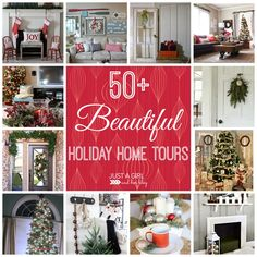 Over 50 gorgeous holiday home tours! So much inspiration! | Just a Girl and Her Blog