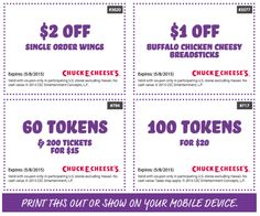 Pinned June 15th 100 game tokens for 20 and more at Chuck E