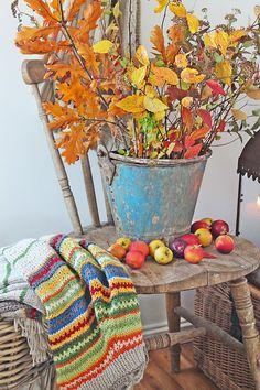 VIBEKE DESIGN: Forelsket i høsten ! gorgeous knit afghan
