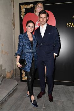 Olivia Palermo and Johannes Huebl attend the ADR Party during Milan Fashion Week Fall/Winter 2018/19 on February 24 2018 in Milan Italy