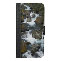 Tumbling Waterfalls Photo iPhone 6/6s Plus Wallet Case - photography gifts diy custom unique special