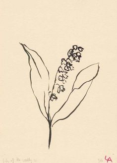 Lily of the Valley Floral Painting by Lucy Auge on Etsy Gravure Illustration, Illustration Art, Food Illustrations, Botanical Illustration, Art Sketches, Art Drawings, Simple Sketches, Tattoo Drawings, Arte Sketchbook