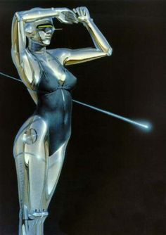 Hajime Sorayama is a Japanese illustrator, known for his precisely detailed, erotic airbrush portrayals of women and feminine robots- and one of my al. Illustrations, Illustration Art, New Retro Wave, Arte Robot, Robot Girl, Arte Cyberpunk, Robot Concept Art, Futuristic Art, Airbrush Art