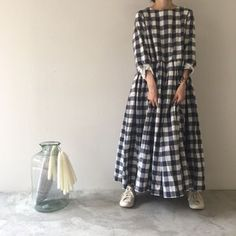 Exactly what I am looking for ♥ Modest Fashion, Hijab Fashion, Fashion Dresses, Linen Dresses, Cotton Dresses, Moda Natural, Moslem, Mode Plus, Mori Girl