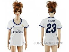 http://www.jordanaj.com/womens-real-madrid-23-beckham-home-soccer-club-jersey.html WOMEN'S REAL MADRID #23 BECKHAM HOME SOCCER CLUB JERSEY Only $20.00 , Free Shipping!