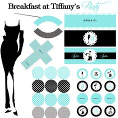 Breakfast at Tiffany Party KIT - Festa Colazione da Tiffany - stampabile faidate - Printable Party. $29.00, via Etsy.