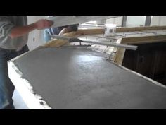 Concrete bar top pour, Dublin Square http://www.youtube.com/user/EmpireDevelopment