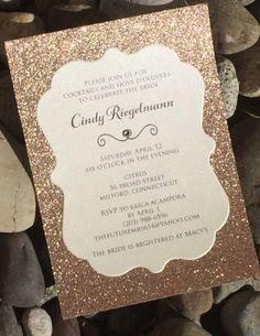 Quinceanera Invitation Glitter Quinceanera Invitations Set of