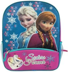 Featuring Elsa, Anna and Olaf, this Disney's Frozen backpack is perfect for sending her back to school. Frozen Elsa And Anna, Disney Frozen Elsa, Elsa Anna, Disney Princess, Frozen Toys, Barbie Stuff, Kids Backpacks, Olaf, Amelia