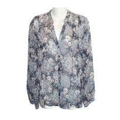 3f29e821480844 Joie Multicolor Floral Silk Chiffon Small Blouse Size 6 (S). Free shipping  and. Tradesy