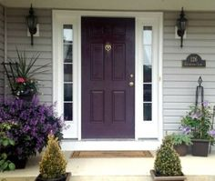 painted purple front door, how to choose a paint colour