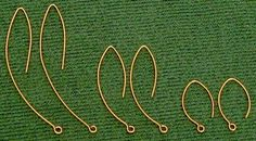 Tutorial: Make Long Earwires Here's how to make long earwires (also called almond earwires or marquise earwires, because of their shape):