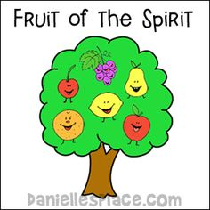 Fruit of the Spirit Tree Memory Verse Chart for Sunday School from www.daniellesplace.com