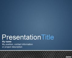Metal PowerPoint template with blue background color