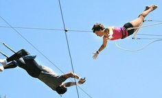 Groupon - Trapeze Class for One or Two at Richie Gaona Flying Trapeze in Woodland Hills (Up to 52% Off) in Woodland Hills. Groupon deal price: $42