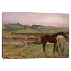 Horse in a Meadow by Degas Canvas Giclee Print