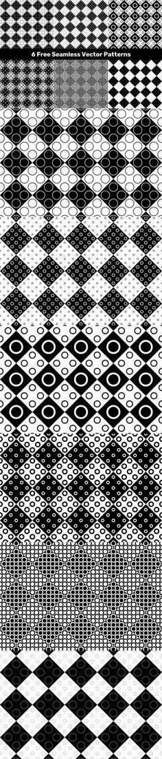 6 Free Seamless Vector Patterns #FreeDesign #FreePattern #circle #brochureelement #template #VectorPattern #diagonal #geometric #halftonepattern #VectorPatterns #FreeVector #FreeVectorBackground #pattern #FreeBackgrounds #PatternCollections #pattern #freebie #background #freeseamlesspattern