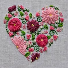 brazilian embroidery for beginners – Handstickerei Embroidery Hearts, Crewel Embroidery Kits, Embroidery Stitches Tutorial, Embroidery Needles, Learn Embroidery, Embroidery For Beginners, Hand Embroidery Patterns, Embroidery Techniques, Ribbon Embroidery