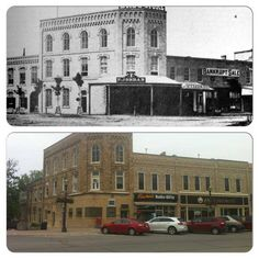 Downtown Goderich, Colborne and Courthouse Square. 1885 on the top, 2013 on the bottom. Present Day, West Coast, Ontario, Street View, Canada, Check, Pictures, Top, Image