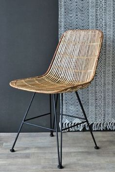 Blonde Rattan Dining Chair