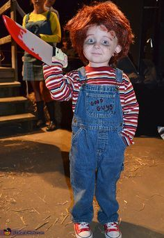 Lil' Chucky - 2013 Halloween Costume Contest lol this is awesome but he gets to pick this year not me. He did want to buy the movie once lol so maybe
