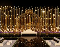 Night Wedding Decor, Outdoor Night Wedding, Reception Stage Decor, Desi Wedding Decor, Wedding Reception Design, Wedding Reception Backdrop, Engagement Stage Decoration, Wedding Stage Decorations, Indian Wedding Stage