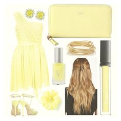 """✨Soft Gold✨"" by lexi-loves-fashion ❤ liked on Polyvore featuring Natasha Accessories, Topshop, Sophia Webster, Gucci, Butter London, claire's, Vapour Organic Beauty and The Limited"