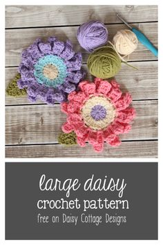 Another beautiful flower crochet pattern from Daisy Cottage Designs
