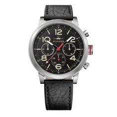 1791232 Ανδρικό ρολόι TOMMY HILFIGER Jake με ημέρα-ημερομηνία, μαύρο λουρί & μαύρο καντράν   Ανδρικά ρολόγια TOMMY ΤΣΑΛΔΑΡΗΣ στο Χαλάνδρι #Tommy #Hilfiger #jake #λουρι #ρολοι