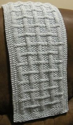 Square Lattice - I like this stitch pattern, so simple and so effective