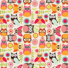 Owls! Love the bright colors. Love owls!